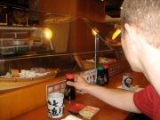Not sushi train but sushi boat?