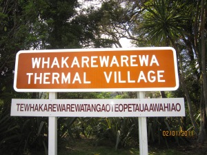 The thermal village with a very long Maori name