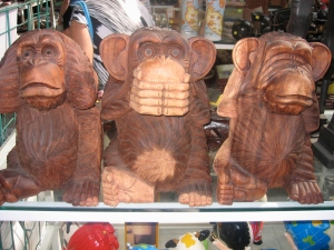 In Malta, we couldn't pick these up as they were not only big but carved from wood and unsealed