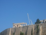 Looking up at Acropolis