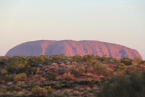 Uluru as the sun was setting