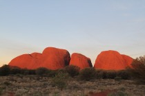 Kata Tjuta as the sun begins its descent