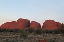 Kata Tjuta as the sun is almost hitting the horizon