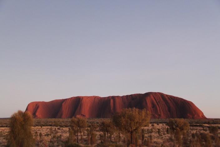 Uluru with a little bit of light