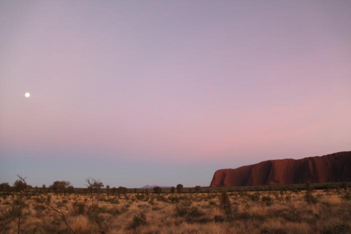 Uluru and the moon