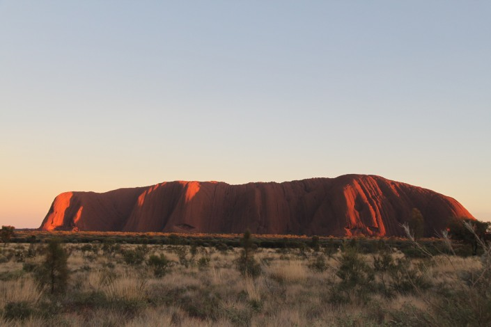 Uluru as the sun wakes up some more