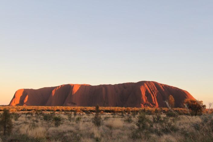 Uluru sprayed with more sun rays