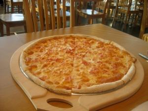 A full pizza for breakfast