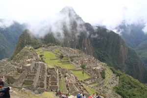 The cloud about to blanket Machu Picchu