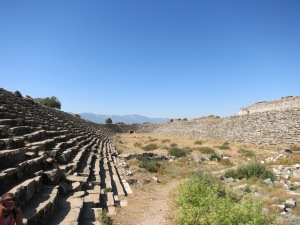 Amphitheatre at Aphrodisias - insanely long