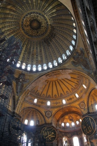 The HUGE dome being support by the other domes - an architectural feat for that era