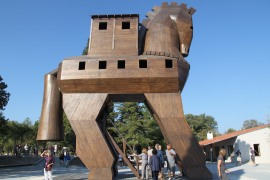 Not the original Trojan Horse, now that would've been exciting!