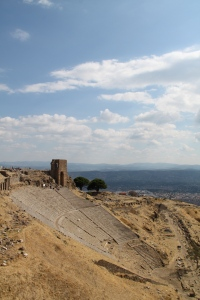 The amphitheatre at Pergamum was a real treat