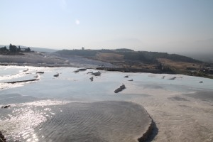 Being able to wade through the water in Pamukkale was definitely an adventure