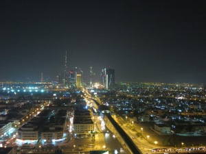 Dubai from the rooftop of our hotel