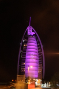 Burj Al Arab lit up to support breast cancer