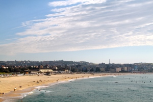 Morning view of Bondi Beach