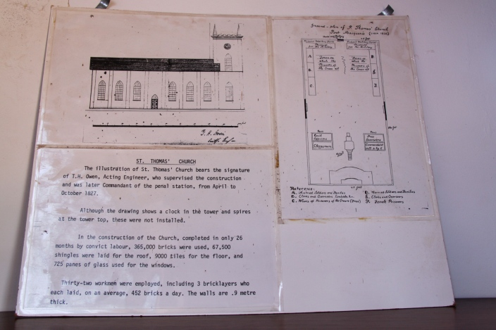 Historical documents: layout of church