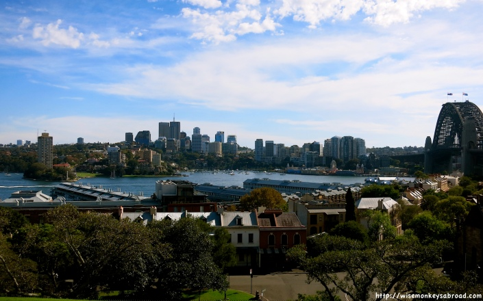 View from Observatory Hill towards Walsh Bay Wharves