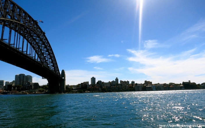 Walking underneath the Harbour Bridge