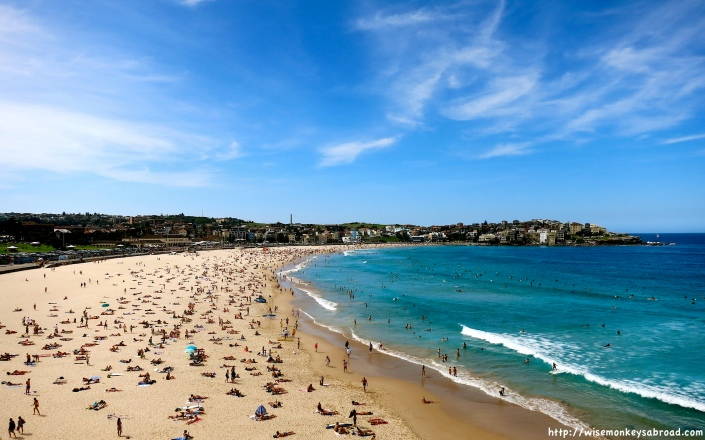 World famous Bondi Beach