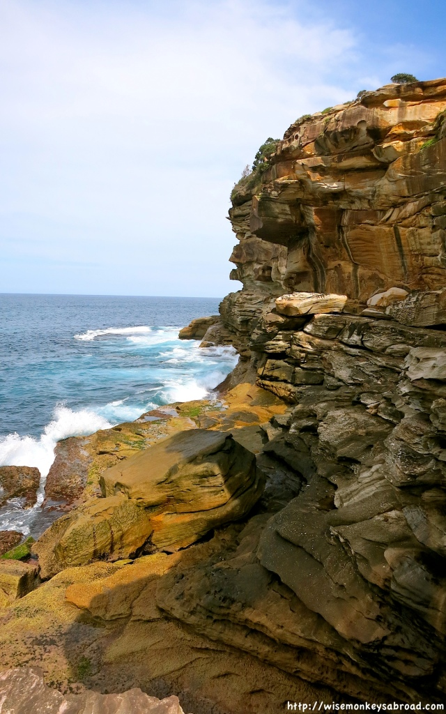 Bronte cliff faces