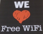 To put it simply, we love free wi-fi :-)