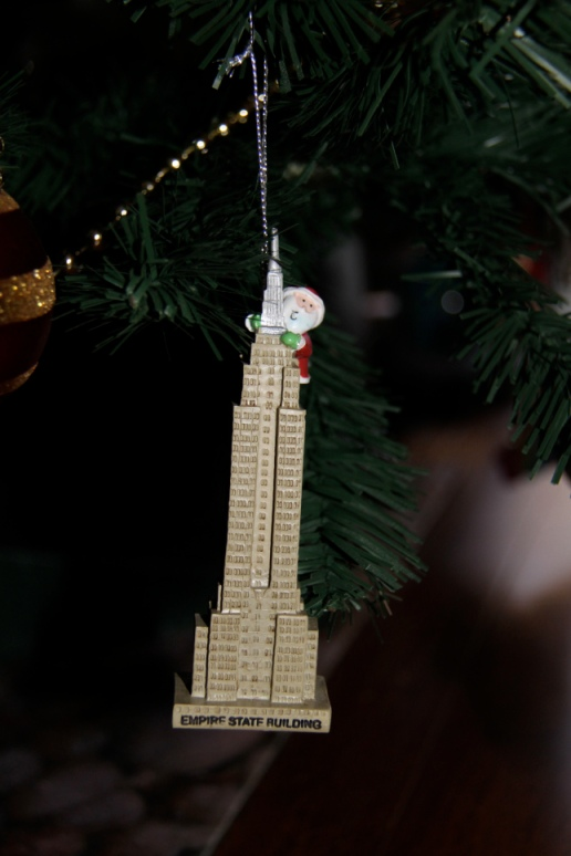 Not King Kong but Santa scaling the Empire State Building
